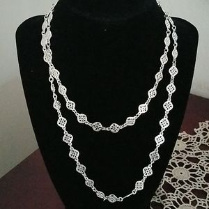 Stella & Dot Silvertone Chain Necklace
